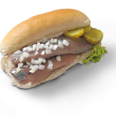 Vishandel Bussum broodje haring